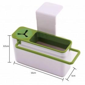 ISHOWTIENDA Tempat Sabun Cuci Piring dengan Gantungan Handuk - QW-821 - White - 7