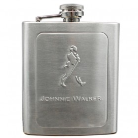 Stainless Steel Hip Flask Johnnie Walker 7 Oz - Silver