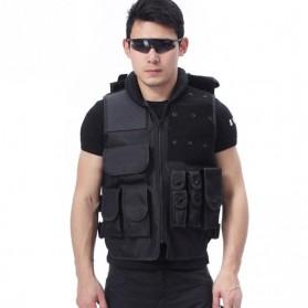 Rompi Militer Airsoft Gun CS Tactical Vest Combat 800D - Black - 2