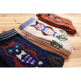 Kaos Kaki Wanita 1 Pair Motif Snowflake Fox - Multi-Color - 4