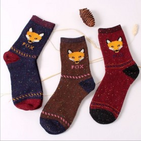 Kaos Kaki Wanita 1 Pair Motif Cartoon Fox - Multi-Color