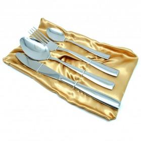 Set Perlengkapan Makan Stainless Steel - Silver