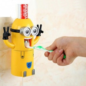 ECOCO Dispenser Odol Minions Toothpaste Squeezer Holder - EC8 - Yellow