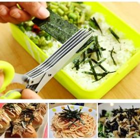 Gunting Pemotong Sayuran 5 Layer - Green - 2