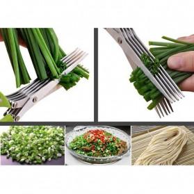 Gunting Pemotong Sayuran 5 Layer - Green - 3
