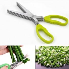 Gunting Pemotong Sayuran 5 Layer - Green - 4