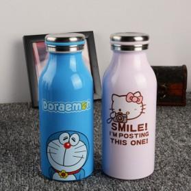 Botol Minum Stainless Steel Hello Kitty 350ml - Model D - Pink - 3