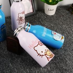 Botol Minum Stainless Steel Hello Kitty 350ml - Model D - Pink - 4