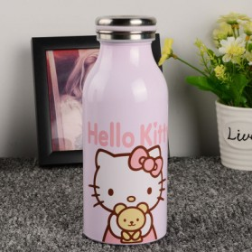 Botol Minum Stainless Steel Hello Kitty 350ml - Model B - Pink
