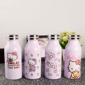 Botol Minum Stainless Steel Hello Kitty 350ml - Model B - Pink - 2