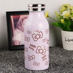 Botol Minum Stainless Steel Hello Kitty 350ml - Model C - Pink