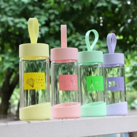 Botol Minum Kaca 280ml - FQ-B633 - Yellow