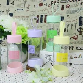 Botol Minum Kaca 280ml - FQ-B633 - Pink - 3