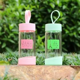 Botol Minum Kaca 280ml - FQ-B633 - Pink - 4