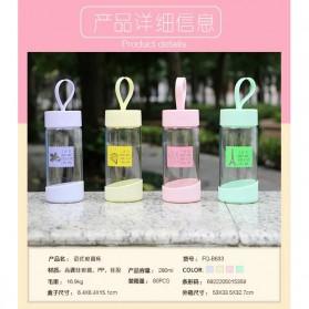 Botol Minum Kaca 280ml - FQ-B633 - Pink - 6