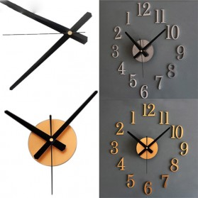 Jam Dinding DIY Giant Wall Clock Quartz Creative Design 25cm - DIY-09 - Golden - 2