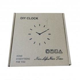 Jam Dinding DIY Giant Wall Clock Quartz Creative Design 25cm - DIY-09 - Golden - 4