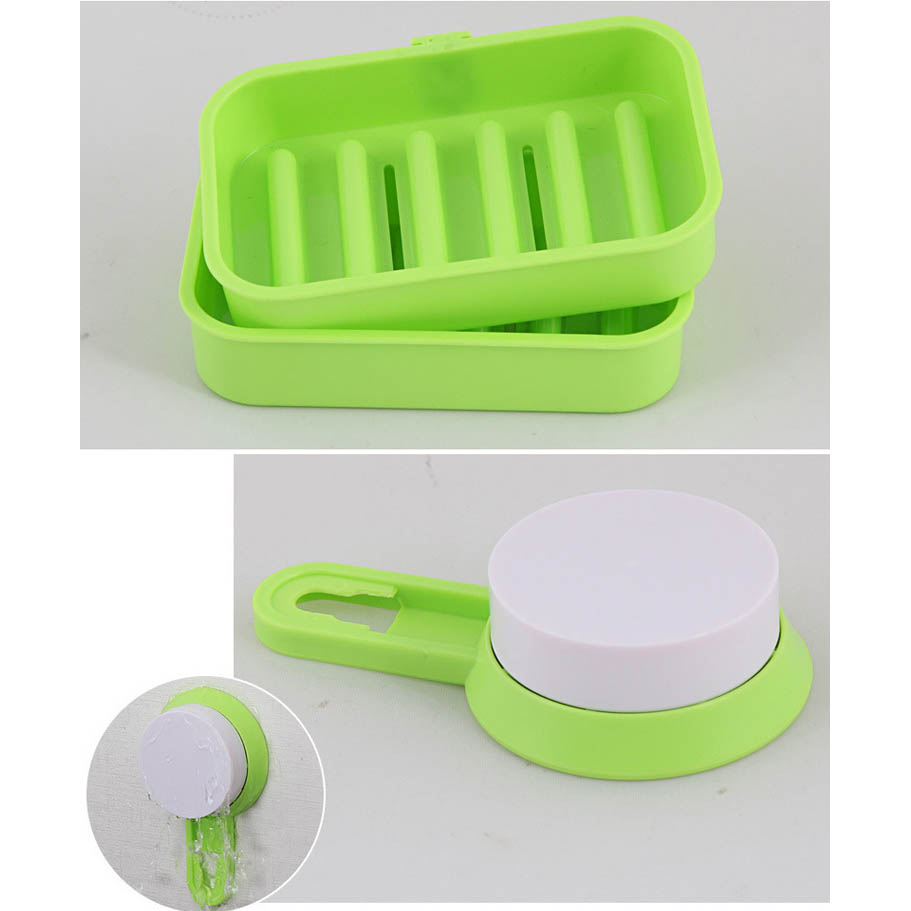 Tempat Sabun Kamar Mandi Green Rak Gantungan Toilet Handuk Shampoo Odol 7