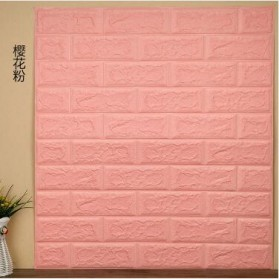Sticker Wallpaper Dinding 3D Embosed Model Bata 77x70cm - WP072 - Pink - 1