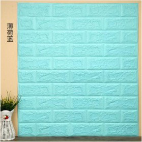 Sticker Wallpaper Dinding 3D Embosed Model Bata 77x70cm - WP072 - Mint