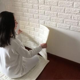 Sticker Wallpaper Dinding 3D Embosed Model Bata 77x70cm - WP072 - White - 2