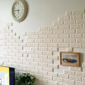 Sticker Wallpaper Dinding 3D Embosed Model Bata 77x70cm - WP072 - White - 3
