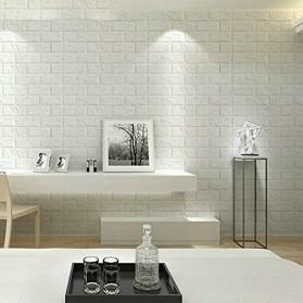 Sticker Wallpaper Dinding 3D Embosed Model Bata 77x70cm - WP072 - White - 6