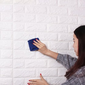 Sticker Wallpaper Dinding 3D Embosed Model Bata 77x70cm - WP072 - White - 8