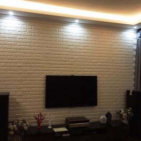 Sticker Wallpaper Dinding 3D Embosed Model Bata 77x70cm - WP072 - White - 10