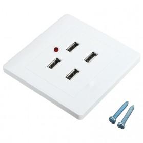 Stop Kontak 4 USB Port - EU021 - White