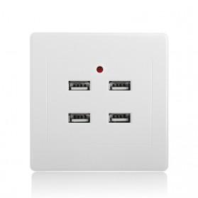 Stop Kontak 4 USB Port - EU021 - White - 2