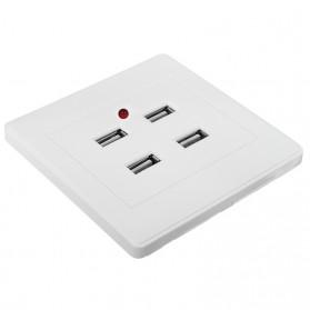 Stop Kontak 4 USB Port - EU021 - White - 4