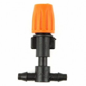 Water Mist Sprinkler Drip Irigasi Penyiram 2 Nozzle Selang 5 PCS FD351A - Orange