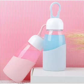 Botol Minum Mini Lanyard Lucu 400ml - Blue - 5