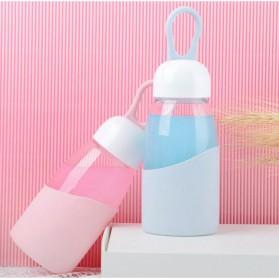 Botol Minum Mini Lanyard Lucu 400ml - Green - 6