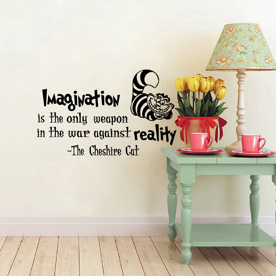 Sticker Wallpaper Dinding Imagination Cat Size M Black