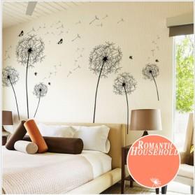 Sticker Wallpaper Dinding Black Dandelion - AY834 - Black - 3