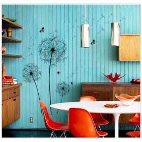 Sticker Wallpaper Dinding Black Dandelion - AY834 - Black - 4