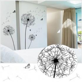 Sticker Wallpaper Dinding Black Dandelion - AY834 - Black - 5