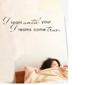 Sticker Wallpaper Dinding Dream Come True - Black - 2