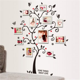 Sticker Wallpaper Dinding Family Tree - Black