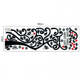 Sticker Wallpaper Dinding Family Tree - Black - 6