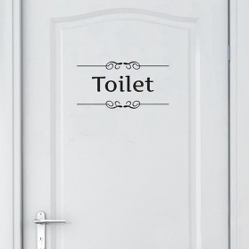 Sticker Wallpaper Dinding Toilet - Black