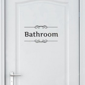 Fender Sticker Wallpaper Dinding Bathroom - 3115B - Black