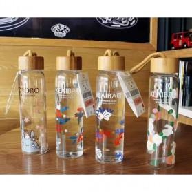 Botol Minum Kaca 380ml - Transparent - 3