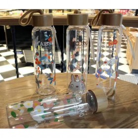 Botol Minum Kaca 380ml - Transparent - 4