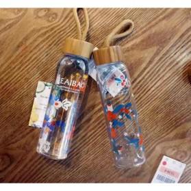 Botol Minum Kaca 380ml - Transparent - 5