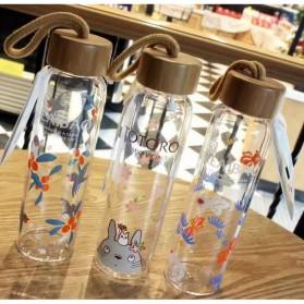 Botol Minum Kaca 380ml - Transparent - 6