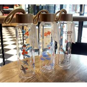Botol Minum Kaca 380ml - Transparent - 8