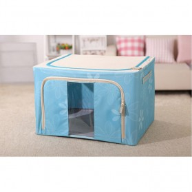 Kotak Penyimpan Foldable Bahan Kain - Blue